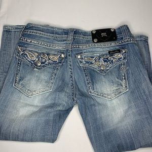Miss Me Crop Bling Capri Jeans Stretch Size 29